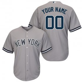 Wholesale Cheap New York Yankees Majestic Cool Base Custom Jersey Gray