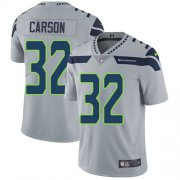 Wholesale Cheap Nike Seahawks #32 Chris Carson Grey Alternate Men's Stitched NFL Vapor Untouchable Limited Jersey