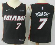 Wholesale Cheap Men's Miami Heat #7 Goran Dragic Black 2017-2018 Nike Swingman Ultimate Software Stitched NBA Jersey