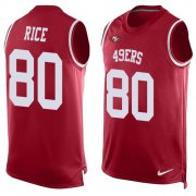 Wholesale Cheap Nike 49ers #80 Jerry Rice Red Team Color Men's Stitched NFL Limited Tank Top Jersey