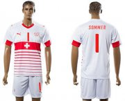 Wholesale Cheap Switzerland #1 Sommer Away Soccer Country Jersey