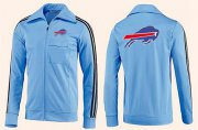 Wholesale Cheap NFL Buffalo Bills Team Logo Jacket Light Blue