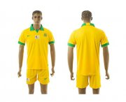 Wholesale Cheap South African Blank Yellow Home Soccer Country Jersey