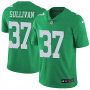 Wholesale Cheap Nike Eagles #37 Tre Sullivan Green Men's Stitched NFL Limited Rush Jersey