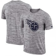 Wholesale Cheap Men's Tennessee Titans Nike Heathered Black Sideline Legend Velocity Travel Performance T-Shirt
