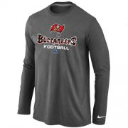 Wholesale Cheap Nike Tampa Bay Buccaneers Critical Victory Long Sleeve NFL T-Shirt Dark Grey