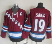 Wholesale Cheap Avalanche #19 Joe Sakic Red CCM Throwback Stitched NHL Jersey