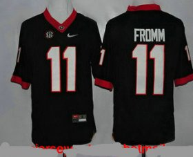 Wholesale Cheap Men\'s Georgia Bulldogs #11 Jake Fromm Black Limited College Football Stitched Nike NCAA Jersey