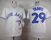 Wholesale Cheap Blue Jays #29 Devon Travis White Cool Base Stitched MLB Jersey