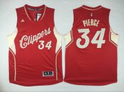Wholesale Cheap Men's Los Angeles Clippers #34 Paul Pierce Revolution 30 Swingman 2015 Christmas Day Red Jersey