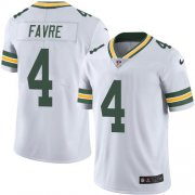 Wholesale Cheap Nike Packers #4 Brett Favre White Men's Stitched NFL Vapor Untouchable Limited Jersey