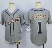 Wholesale Cheap Tigers #1 Jose Iglesias Grey Cool Base Stitched Youth MLB Jersey