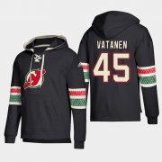 Wholesale Cheap New Jersey Devils #45 Sami Vatanen Black adidas Lace-Up Pullover Hoodie