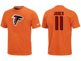 Wholesale Cheap Nike Atlanta Falcons #11 Julio Jones Name & Number NFL T-Shirt Orange