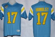 Wholesale Cheap UCLA Bruins #17 Brett Hundley Light Blue Jersey