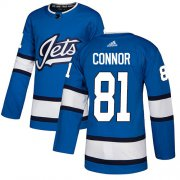 Wholesale Cheap Adidas Jets #81 Kyle Connor Blue Alternate Authentic Stitched NHL Jersey