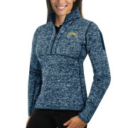 Wholesale Cheap Los Angeles Chargers Antigua Women's Fortune Half-Zip Sweater Heather Navy
