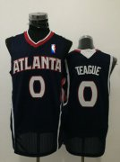Wholesale Cheap Men's Atlanta Hawks #0 Jeff Teague Navy Blue Swingman Jersey