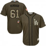Wholesale Cheap Dodgers #61 Alex Verdugo Green Salute to Service Stitched MLB Jersey