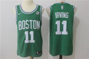 Wholesale Cheap Men's Boston Celtics #11 Kyrie Irving Green Stitched NBA Adidas Revolution 30 Swingman Jersey