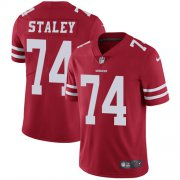 Wholesale Cheap Nike 49ers #74 Joe Staley Red Team Color Men's Stitched NFL Vapor Untouchable Limited Jersey