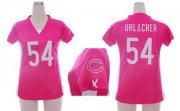 Wholesale Cheap Nike Bears #54 Brian Urlacher Pink Draft Him Name & Number Top Women's Stitched NFL Elite Jersey