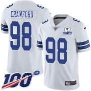Wholesale Cheap Nike Cowboys #98 Tyrone Crawford White Men's Stitched With Established In 1960 Patch NFL 100th Season Vapor Untouchable Limited Jersey