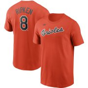 Wholesale Cheap Baltimore Orioles #8 Cal Ripken Jr. Nike Cooperstown Collection Name & Number T-Shirt Orange