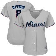 Wholesale Cheap Marlins #8 Andre Dawson Grey Road Women's Stitched MLB Jersey