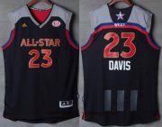 Wholesale Cheap Men's Western Conference Orleans Pelicans #23 Anthony Davis adidas Black Charcoal 2017 NBA All-Star Game Swingman Jersey