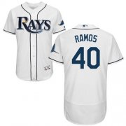 Wholesale Cheap Rays #40 Wilson Ramos White Flexbase Authentic Collection Stitched MLB Jersey