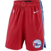 Wholesale Cheap Men's Philadelphia 76ers Nike Red Statement Swingman Basketball Shorts