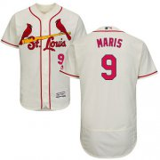 Wholesale Cheap Cardinals #9 Roger Maris Cream Flexbase Authentic Collection Stitched MLB Jersey