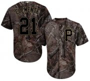 Wholesale Cheap Pirates #21 Roberto Clemente Camo Realtree Collection Cool Base Stitched MLB Jersey
