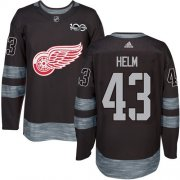 Wholesale Cheap Adidas Red Wings #43 Darren Helm Black 1917-2017 100th Anniversary Stitched NHL Jersey