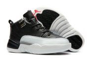 Wholesale Cheap Kids Air Jordan 12 Low Playoffs Black/White-Varsity Red