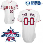 Wholesale Cheap Angels of Anaheim Personalized Authentic White w/2010 All-Star Patch MLB Jersey (S-3XL)