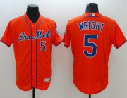 Wholesale Mets #5 David Wright Orange Flexbase Authentic Collection Los Mets Stitched Baseball Jersey