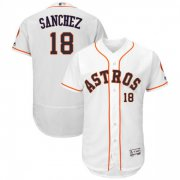 Wholesale Cheap Astros #18 Aaron Sanchez White Flexbase Authentic Collection Stitched MLB Jersey