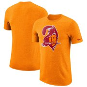 Wholesale Cheap Tampa Bay Buccaneers Nike Marled Historic Logo Performance T-Shirt Heathered Orange