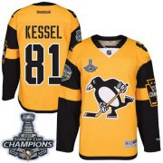 Wholesale Cheap Penguins #81 Phil Kessel Gold 2017 Stadium Series Stanley Cup Finals Champions Stitched NHL Jersey