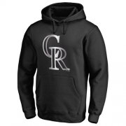 Wholesale Cheap Colorado Rockies Platinum Collection Pullover Hoodie Black