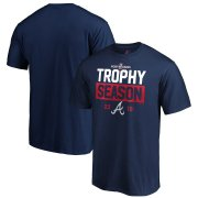 Wholesale Cheap Atlanta Braves Majestic 2019 Postseason Around the Horn T-Shirt Navy