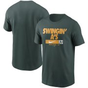 Wholesale Cheap Oakland Athletics Nike Local Nickname T-Shirt Green