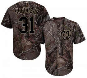 Wholesale Cheap Nationals #31 Max Scherzer Camo Realtree Collection Cool Base Stitched MLB Jersey