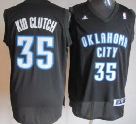 Wholesale Cheap Oklahoma City Thunder #35 Kid Clutch Black Fashion Jersey