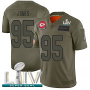 Wholesale Cheap Nike Chiefs #95 Chris Jones Camo Super Bowl LIV 2020 Youth Stitched NFL Limited 2019 Salute To Service Jersey