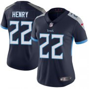 Wholesale Cheap Nike Titans #22 Derrick Henry Navy Blue Team Color Women's Stitched NFL Vapor Untouchable Limited Jersey
