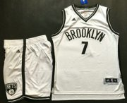 Wholesale Cheap Men's Brooklyn Nets #7 Jeremy Lin White Revolution 30 Swingman Basketball Jersey With Shorts