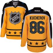 Wholesale Cheap Lightning #86 Nikita Kucherov Yellow 2017 All-Star Atlantic Division Stitched Youth NHL Jersey